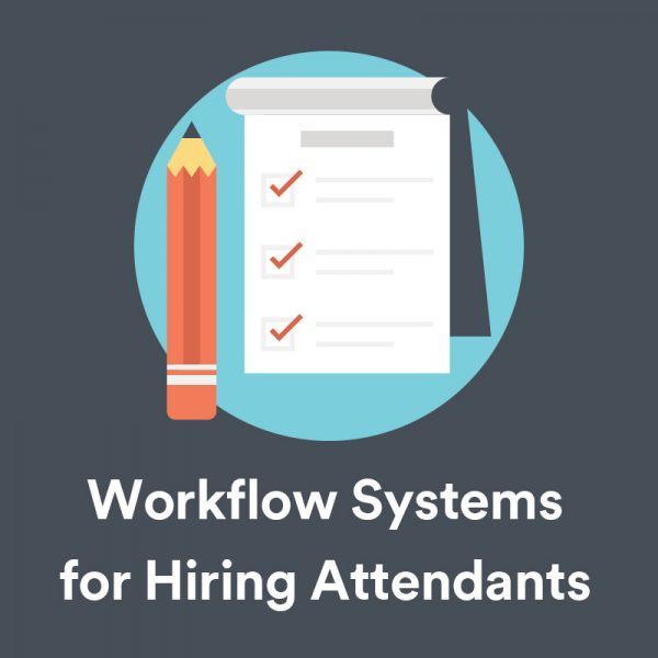 workflow systems for hiring and training photo booth attendants